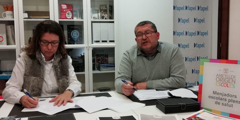 Fapel signa un conveni de col·laboració amb Ametller Origen